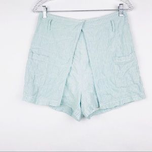 Urban Outfitters Striped High-Rise Skort Shorts